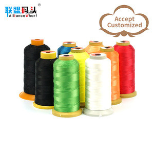 High Strength 100% Polyester White and Black Poly Poly Core Spun Sewing Supplies Thread