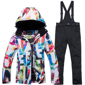 Hot sell Hligh quality new design breathable  warm thick waterproof winter ski jacket ski pants ski suit for women