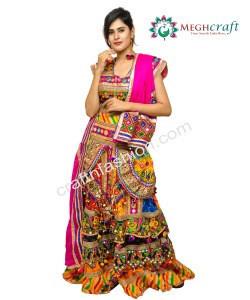 Indian Ethnic Banjara Style Chaniya Choli - Embroidered Navratri Ghaghra Choli - Gujarati Dandiya Dance Costume Dress