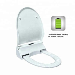 JERRIO lithium battery support ABS health sanitary plastic toilet seat cover automatic toilet seat cover with plastic film