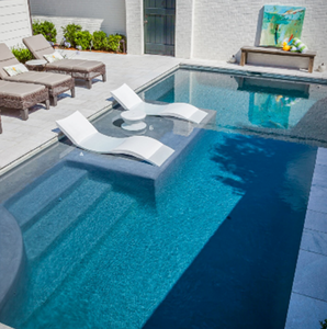 Luxury reclining chair chaise lounge Ledge lounge in-pool chaise