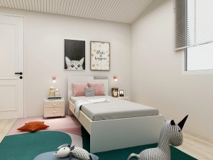 Modern Safe Light Green and White Wooden Bed for Kids