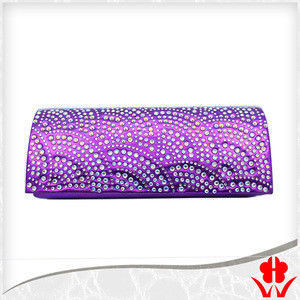 New fashion diamante beaded satin clutch purse evening bags