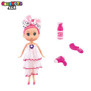 Princess DIY Make Up Set Barbie Girl Doll With Beauty salon tools Toys For Girls