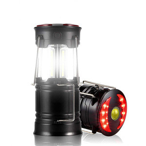 Rechargeable Fishing Outdoor Lamp Telescopic Lantern 3w Led COB Camping Light with flashlight red warning light and magnet base