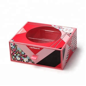 Red Slide Paper Box For Packaging  Mooncake With Comparent