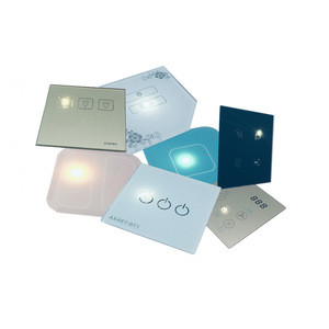 Smart Wireless WIFI Controlled Glass wall touch switch tempered crystal glass panel faceplate