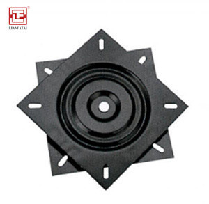 Square full bearing 6 inch 360 degree rotation  heavy iron turntable for table Chair turntable swivel plate chair base lazy susa
