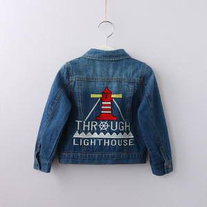 SWS83T 2018 Spring Autumn Newest Style Baby Coat Kids Denim Jacket