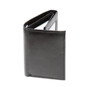 Travelsky 3-folding rfid genuine leather wallets for men