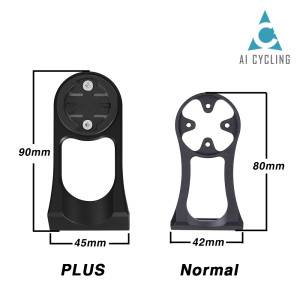 Wholesale Computer Mount Cycling Bike Mount Stem Extension Mount Holder For Computer & Sports Camera