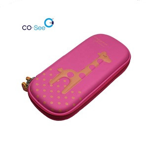 Wholesale Cute Giraffe EVA Writing Carrying Case Bag For Stationery Tool Pencil Box Case