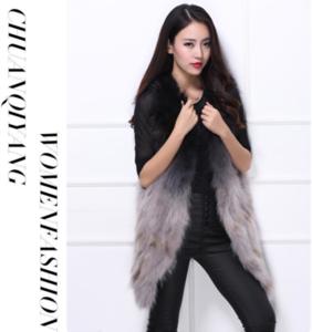 Winter warm sleeveless real raccoon fur good quality heated fur vest