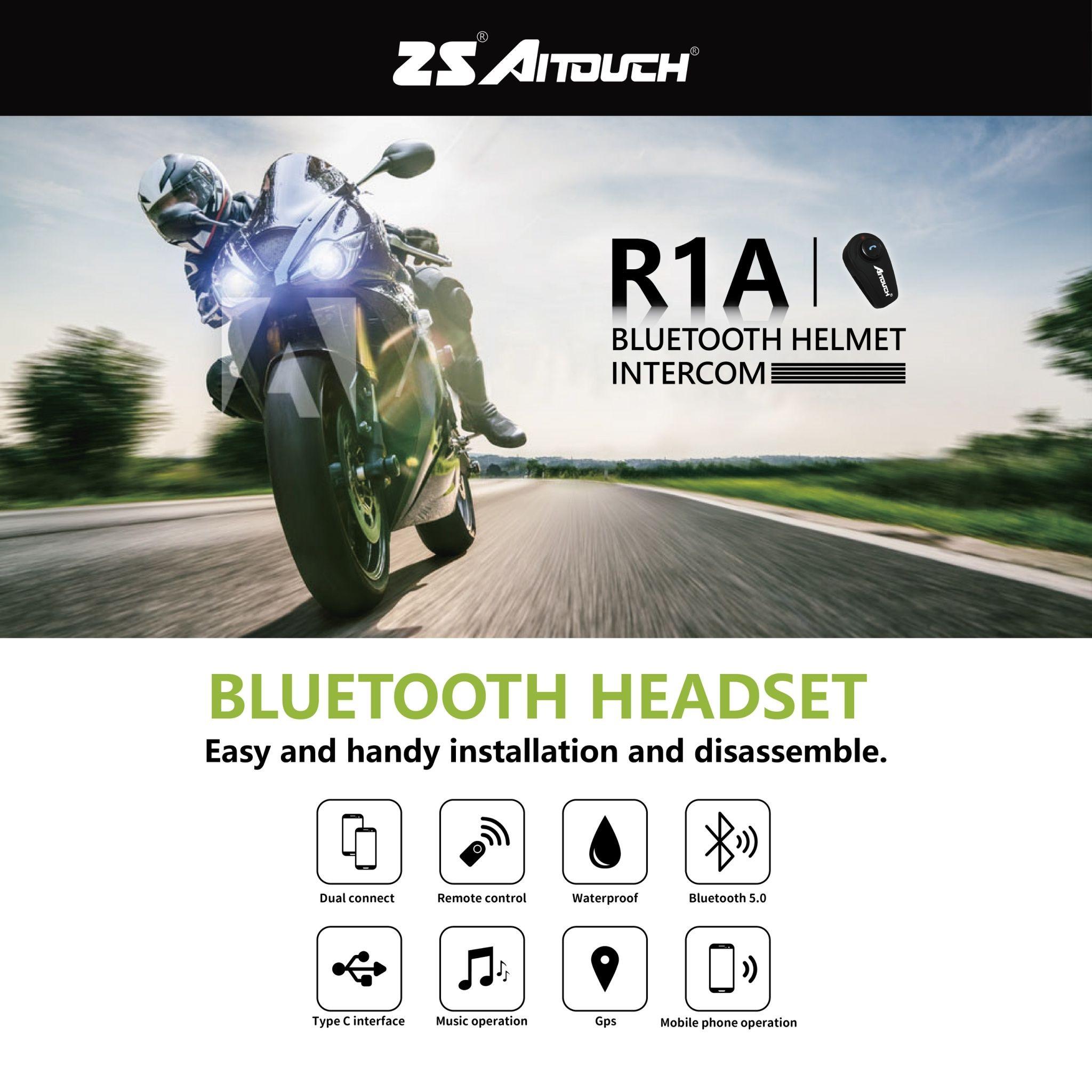 Helmet Intercom Bluetooth Headset | R1A