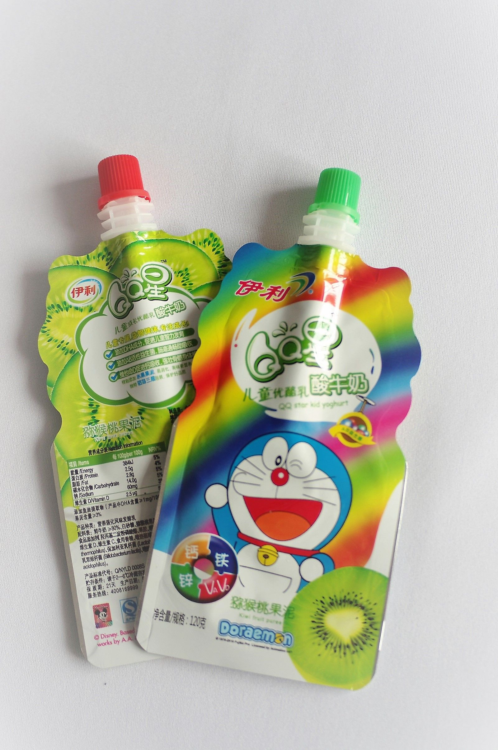 Yogurt, sour milk packaging custom-shaped stand up spout pouch