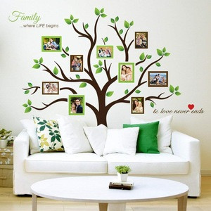1 pcs/set 3D diy giant family tree wall sticker decorations art home decor pvc vinyl wall decoration sticker kids