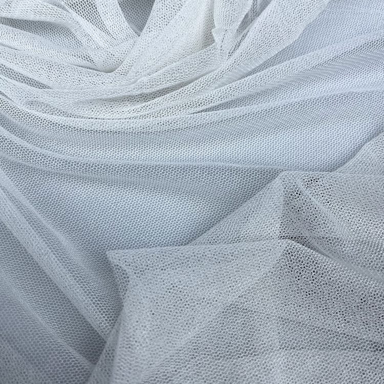 100% silk tulle   mesh fabric for wedding dress Knitted  Silk netting  in 100% mulberry silk