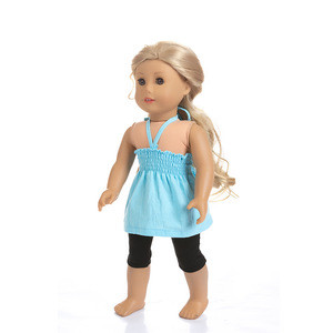 10pcs /Set Cheap Fashion Design Doll Clothing 18 Inches Doll Clothes American Girl Doll Clothes Girl Dress