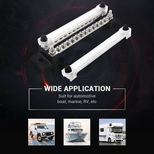 150A 2-Row 24 Terminal Bus Bar Ground Distribution Block For Car Truck ATV UTV