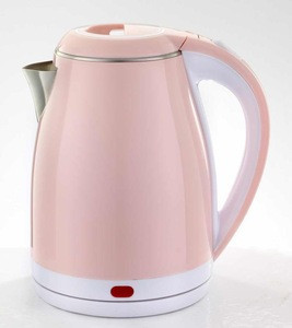 1.8L pink stainless steel electric water kettle
