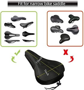 Bicycle saddle with water resistant bike seat cover durable cycle accessories