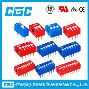 China manufacturers raised mini dip switch 8 position spst lead free 8 pins mini dip switch