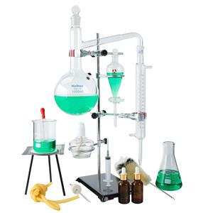 China supplies 1000ml distillation glassware set Laboratory glassware  Water Purifier Distiller Glassware kit