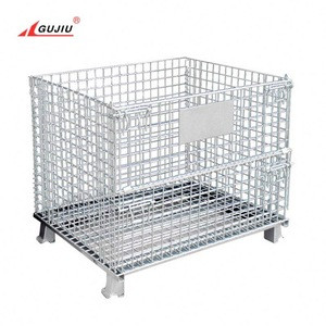 China Warehouse 4 Side Equipment Storage Container Portable Gas Scrap Wine Bottle Chemical Lockable Metal Storage Cage