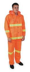 D2297 Rainsuit w/Detach Hood Hi-Vis Orange 3XL