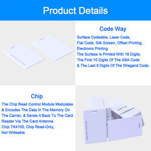 Eseye EM4100 Tk4100 125khz Access Control Card RFID Cards Tag Sticker Key Fob Token Ring Proximity Chip 1.8mm Smart Card