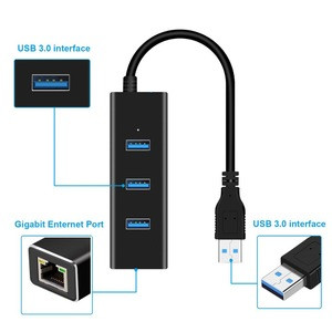 Ethernet Adapter Portable USB 3.0 to RJ45 10/100 /1000 Mbps Network LAN Wired Adapter for Chromebook,