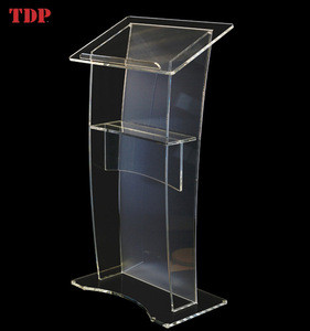 Factory Directly Matt Clear Acrylic Podium for Meeting Room Hotel or School Church