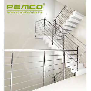 Foshan Factory Safty Outdoor Balustrades & Handrails Tube Stainless Steel Stair Railing