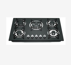 Glass 5 bueners built in gas cooktop with high quality
