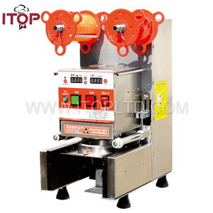 High quality Automatic induction plastic cup sealing machine Cup Sealer Machine for Bubble Tea, Boba Milk Tea,PP, PE,PC