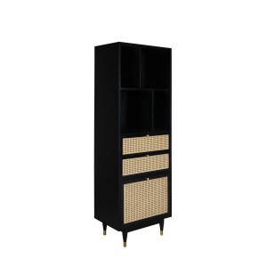 Home furniture luxury bookcase MDF book shelf with door