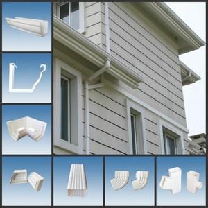Hot Sale Plastic Rain Gutter/PVC Rain Water Collector /Plastic Downspout