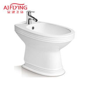 Hot sell ceramic easy clean bathroom floor stand women washing seat  bidets