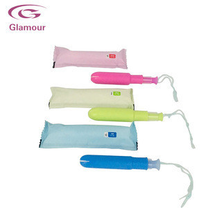 Hot Sell Disposable organic cotton woman custom tampons with BPA-Free Applicators