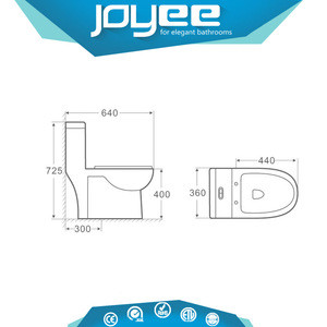 J-SY-1084A Sanitary Ware watersense siphonic S-trap Toilet Bowl one Piece WC Price