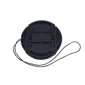Manufacturer Custom Best Quality Black Snap-On Centre Pinch Rubber 40.5mm 52mm 58mm 72mm DSLR Camera Lens Cap