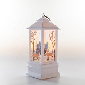 Metal Flameless Candle Lantern for Christmas Decoration