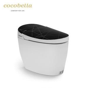 Modern hotel black color wc automatic flush smart toilet bowl for sale