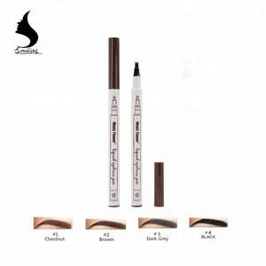 Music Flower 4 Tips Longlasting Microblading Eyebrow Dye Liquid Tint  Waterproof Eyebrow Pen Tattoo