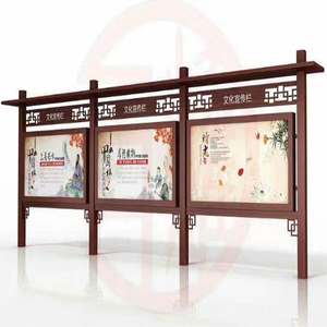 Outdoor scrolling fabric rectangle standing sign billboard from factory price