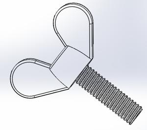 Plastic Polyamide Nylon PA66 Wing Screw Plastic Butterfly Screw