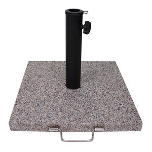 Promotional Outdoor leisure patio granite umbrella base Granite Umbrella Stand