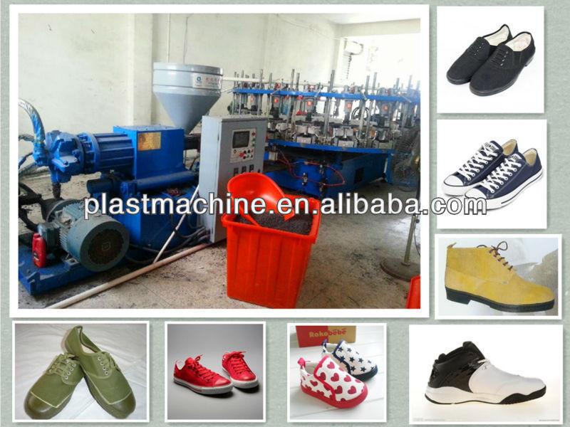 Pvc shoe making machine