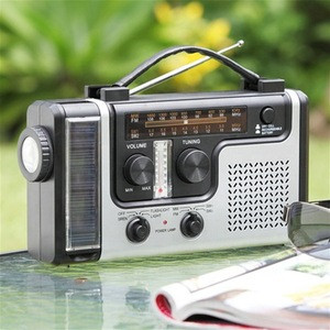 Solar Powered Dynamo Wind Up Rechargeable AM FM Radio Music with LED Torch Dynamo Multifunction Solar Radio