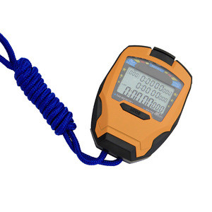 Water resistant 100 laps memory professional sport stopwatch